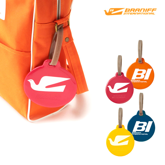 Braniff International Luggage Tag Round Suitcase Name Bag Tags Tagging Travel Gadgets Overseas Domestic