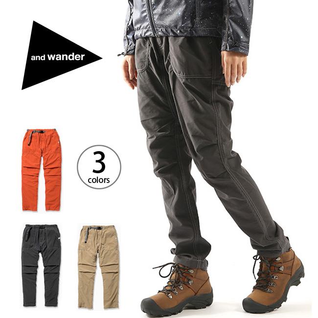 アンドワンダー ナイロンクライミングパンツ and wander nylon climbing pants メンズ レディース ユニセックス パンツ ロングパンツ クライミングパンツ ボトムス <2018 春夏>