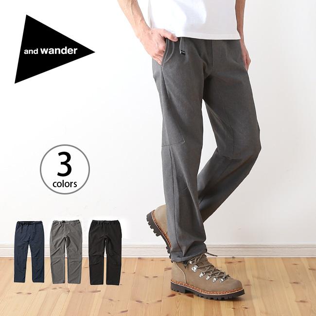 アンドワンダー 2ウェイストレッチロングパンツ and wander 2way stretch long pants メンズ パンツ ロングパンツ ストレッチパンツ ボトムス AW81-FF035