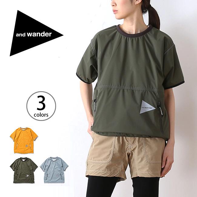 アンドワンダー パーテックスウィンドT and wander PERTEX wind T メンズ ウィメンズ レディース Tシャツ ショートスリーブT 半袖 ベースレイヤー <2018 春夏>