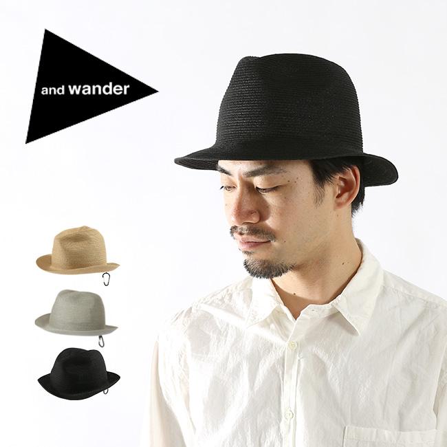 【キャッシュレス 5%還元対象】アンドワンダー ブレイドハット and wander braid hat メンズ レディース ウィメンズ 帽子 ハット <2018 春夏>