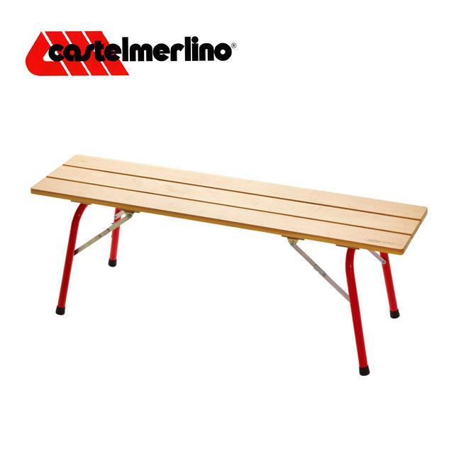 カステルメルリーノ フォールデイングウッドベンチ 120×30 CASTELMERLINO イス チェア ベンチ アウトドア キャンプ バーベキュー 家具 棚 インテリア <2018 春夏>