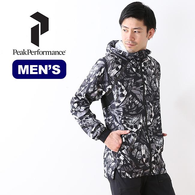 ピークパフォーマンス ワークイットプリントジャケット PeakPerformance Work It Print Jacket トップス アウター パーカー フード メンズ <2018 春夏>