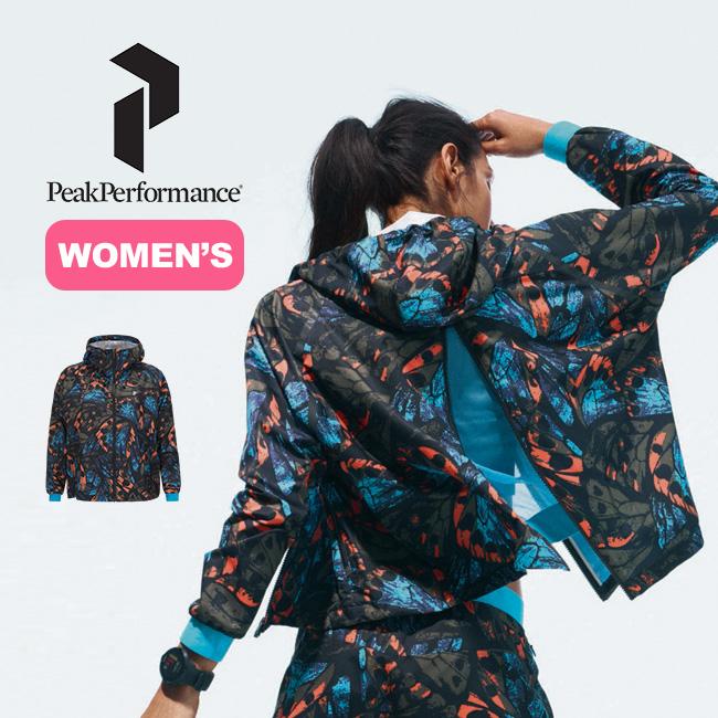 ピークパフォーマンス ワークイットプリントジャケット 【ウィメンズ】 PeakPerformance WOMEN'S WORK IT PRINTED JACKET トップス アウター ジャケット パーカー 女性 <2018 春夏>