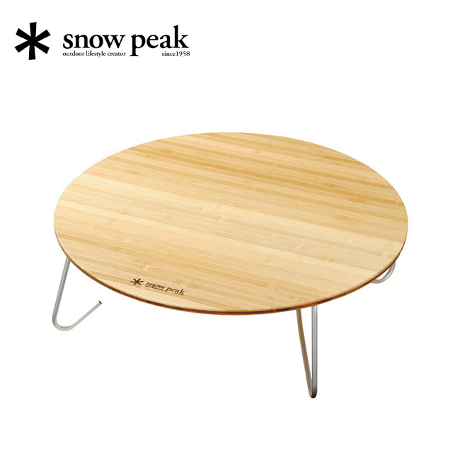 スノーピーク ワンアクションちゃぶ台竹 M snow peak テーブル 和風 日本 ちゃぶだい 折りたたみ 持ち運び 座卓 ローテーブル センターテーブル 竹 丸型 <2019 春夏>