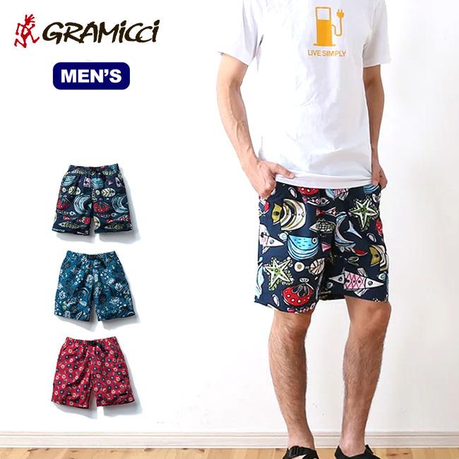 グラミチ プリントパッカブルショーツ GRAMICCI PRINT PACKABLE SHORTS ショーツ ハーフパンツ ショートパンツ 短パン 男性 メンズ GUP-18S040 <2018 春夏>