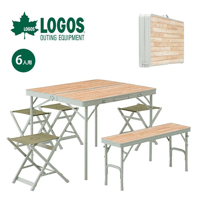 ロゴス LOGOS Life ベンチテーブルセット6 LOGOS ベンチ テーブル 椅子 イス テーブルセット 6人用 73183014 <2019 春夏>