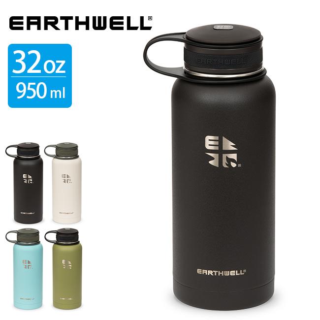 アースウェル 32oz バキュームボトル クーラーキャップ EARTHWELL 水筒 ボトル マグボトル タンブラー グロウラー <2018 春夏>