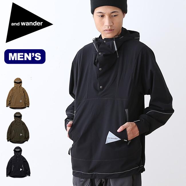 アンドワンダー ナイロンダブルクロスフーディ and wander nylon double cloth hoodie メンズ フーディ プルオーバー ソフトシェル sp18fw