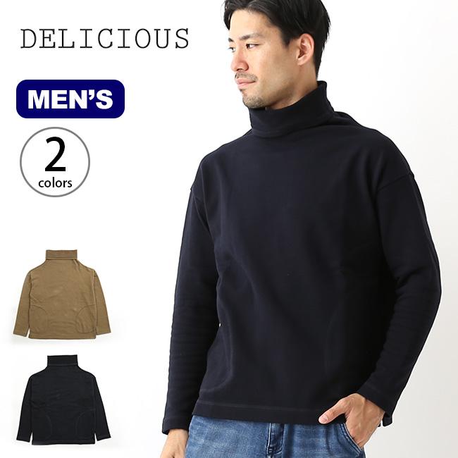 デリシャス タートルネックスウェットシャツ DELICIOUS Turtleneck Sweat Shirt メンズ タートルネック スウェットシャツ 長袖 トップス <2018 秋冬>