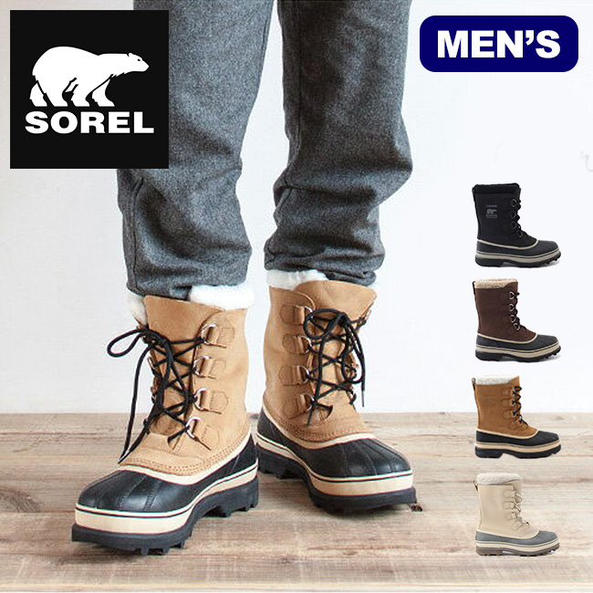 4a370a18690 SOREL Sorel caribou mens CARIBOU | boots | boots | Middle boot | boots |  low boots | with Boa | waterproof leather | inner | snow | warm | snow |  cold ...