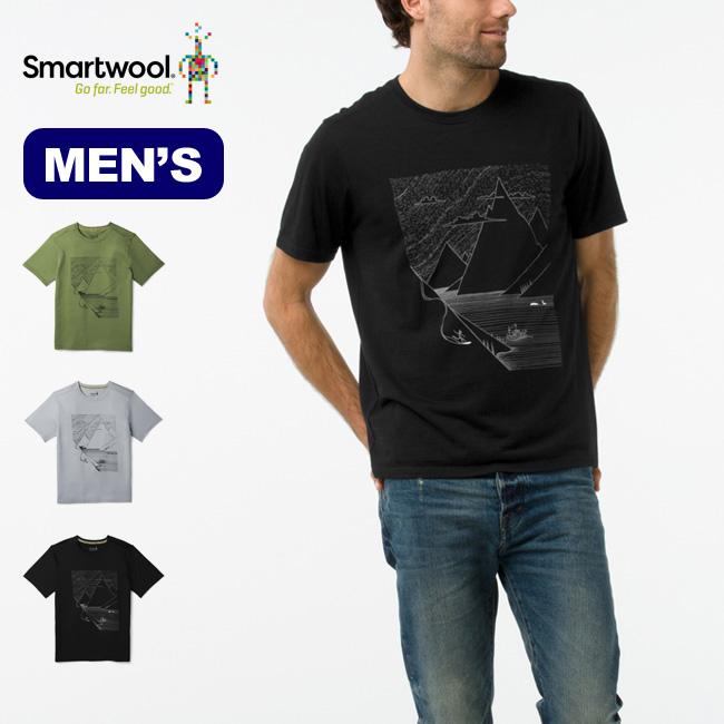 スマートウール メンズ メリノ150フィヨルドスライダーティー Smartwool Men's Merino 150 Fjord Slider T-Shirt Tシャツ カットソー トップス メンズ SW62069 <2018 秋冬>