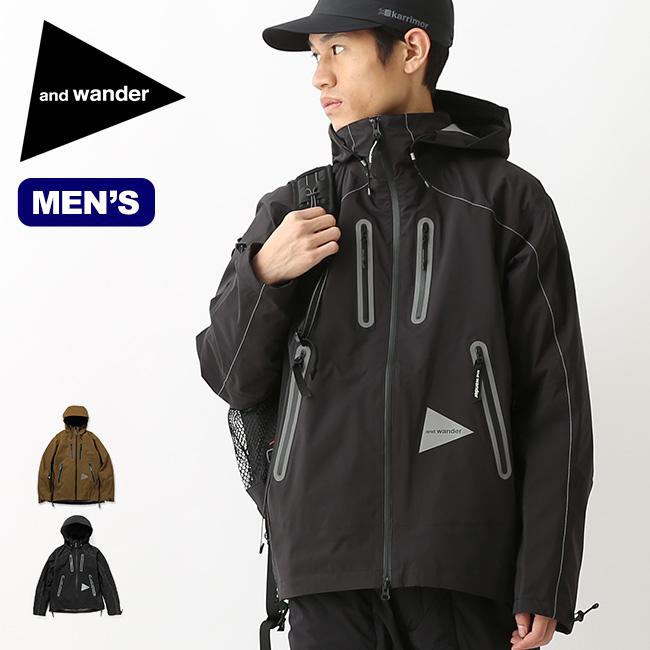 アンドワンダー イーベントジャケット and wander e vent jacket メンズ ジャケット レインウェア 防水ジャケット <2018 秋冬>