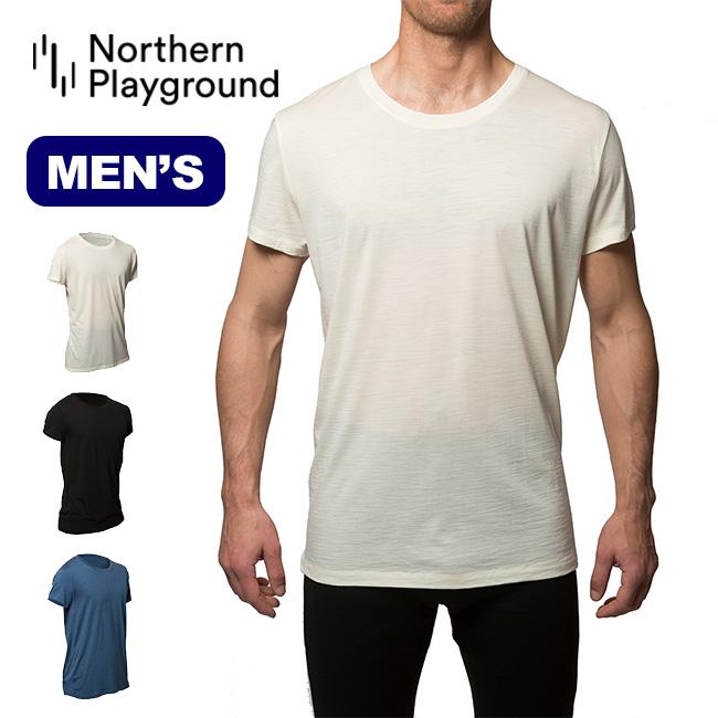 ノーザンプレイグラウンド Tシャツ オーガニックウール&シルク メンズ NORTHERN PLAYGROUND T-Shirt Organic Wool & Silk トップス Tシャツ 半袖 男性 <2019 春夏>