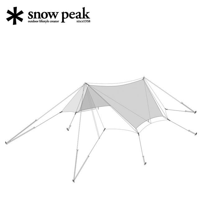 スノーピーク TAKIBIタープ オクタ インナールーフ(替パーツ) snow peak TAKIBI Tarp OCTA Inner Loof テント タープ 日陰 日除け インナールーフ TP-430-1 <2019 春夏>