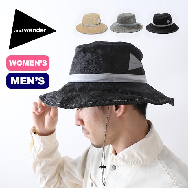 【キャッシュレス 5%還元対象】アンドワンダー ペーパークロスハット and wander paper cloth hat メンズ ウィメンズ AW91-AA631 帽子 ハット 収納性 携帯性 <2019 春夏>