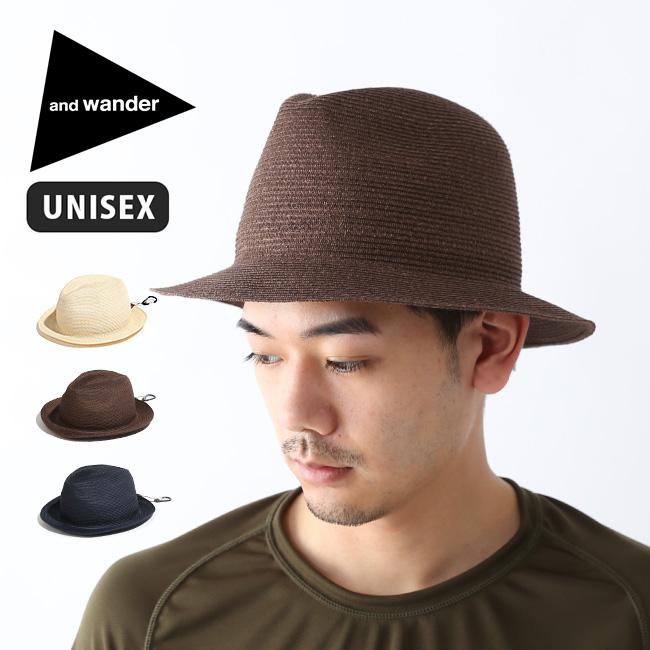 アンドワンダー ブレイドハット and wander braid hat メンズ レディース 帽子 中折れ帽 ハット AW91-AA629 <2019 春夏>