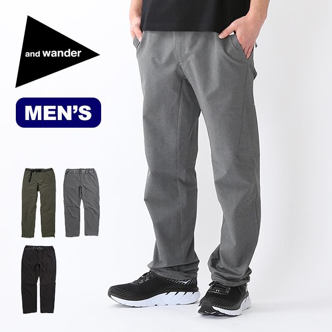 アンドワンダー 2ウェイストレッチロングパンツ and wander 2way stretch long pants ボトムス パンツ メンズ AW91-FF031 <2019 春夏>