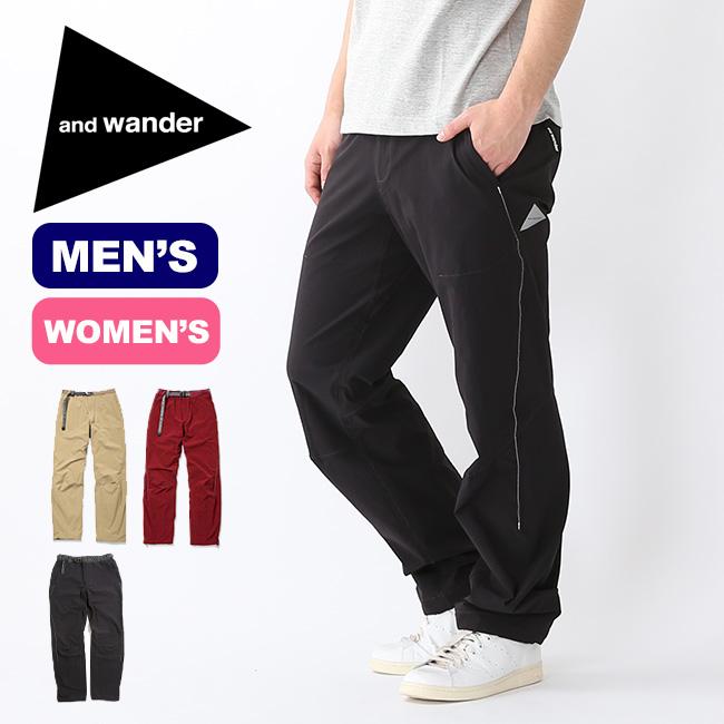アンドワンダー ナイロンストレッチパンツ and wander btkib stretch pants ボトムス パンツ ロングパンツ メンズ レディース アウトドア AW91-FF044 <2019 春夏>