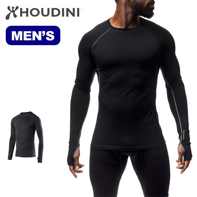 フーディニ メンズ デソリクルーHOUDINI Desoli Crew インナー 長袖Tシャツ 男性 <2018 秋冬>