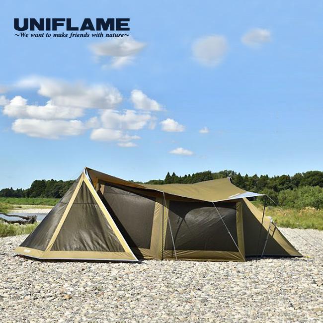 ユニフレーム REVOタープ2 <L> カーキグリーン コンプリートセット UNIFLAME タープ メッシュウォール テント フラップ セット 693209 <2019 春夏>