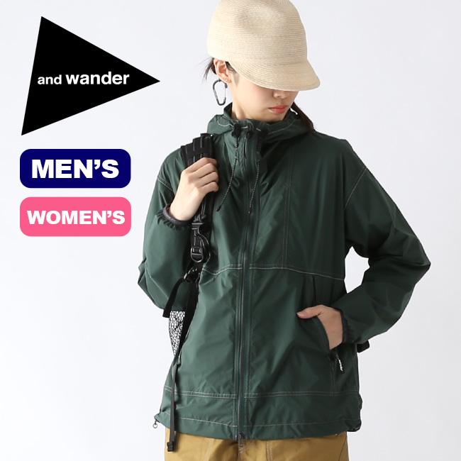 アンドワンダー パーテックスウィンドジャケット and wander PERTEX wind jacket メンズ レディース ジャケット ウインドシェル AW91-FT758 <2019 春夏>