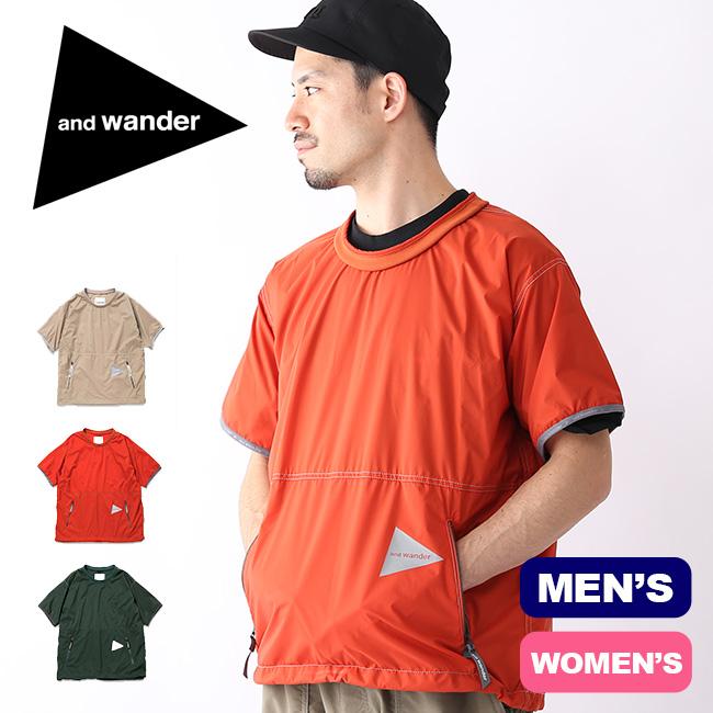 アンドワンダー パーテックスウィンドT and wander PERTEX wind T メンズ レディース トップス Tシャツ プルオーバー AW91-FT626 <2019 春夏>