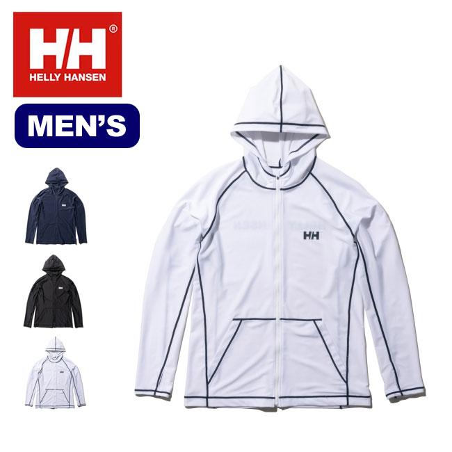 ヘリーハンセン L/S フルジップフーディーラッシュガード メンズ HELLY HANSEN L/S Full-zip Hoodie Rashguard 海 プール 日除け <2019 春夏>