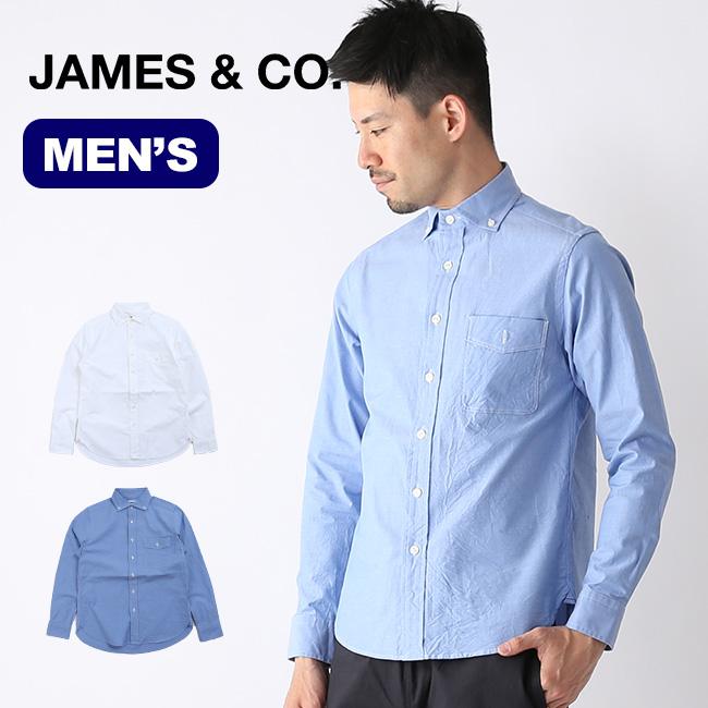 ジェームスアンドコー プジョルピンオックスストレッチ JAMES&CO. メンズ シャツ ボタンダウン トップス JS102S <2019 春夏>