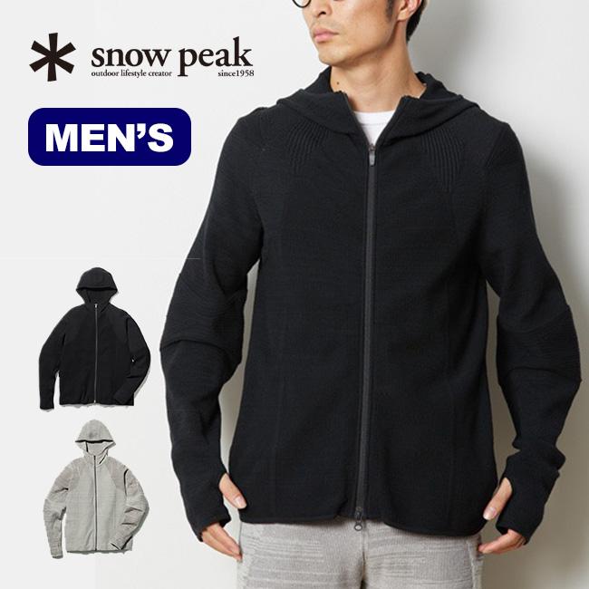 スノーピーク WGニットジャケット snow peak Co/Pe WG StretchKnit Jacket ウェア メンズ ジャケット スウェット トップス パーカー SW-19SU004 <2019 春夏>