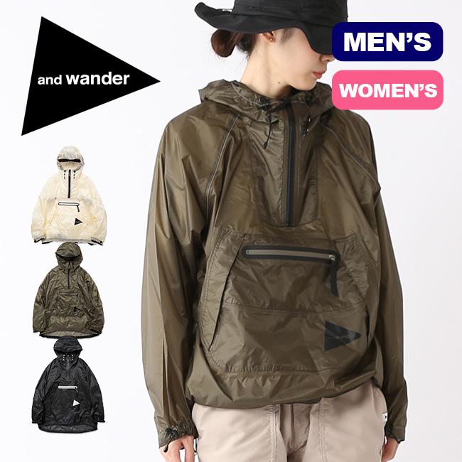 アンドワンダー フライレインアノラックフーディ and wander fly rain anorak hoodie メンズ レディース AW91-FT004 アウター ジャケット アウトドア 春夏