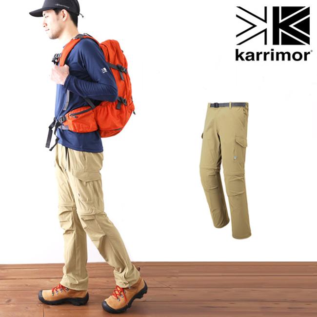 【キャッシュレス 5%還元対象】カリマー コンフィコンバーチブルパンツ karrimor comfy convertible pants 2Way パンツ ロングパンツ ハーフパンツ ショートパンツ メンズ