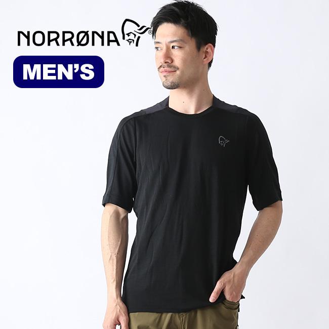 ノローナ シーボットン ウールイコライザーTシャツ メンズ Norrona skibotn wool equalizer T-Shirt (M) トップス Tシャツ 半袖 4202-17 <2019春夏>