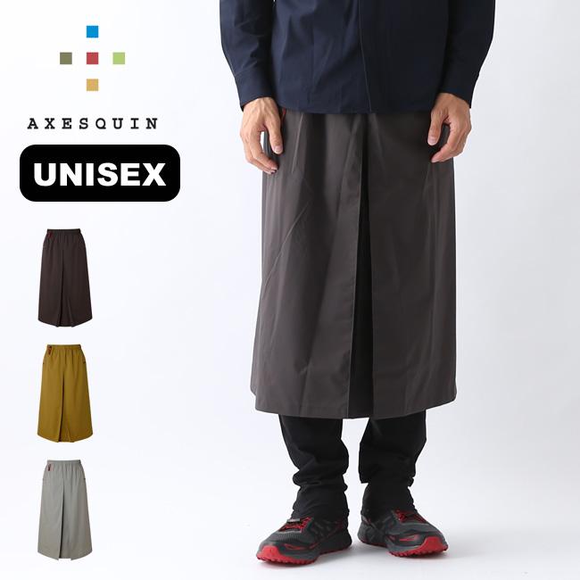 アクシーズクイン アメノスカート AXESQUIN ユニセックス RS1428 ボトムス 雨のスカート 凌ぎ シノギングアウトドア