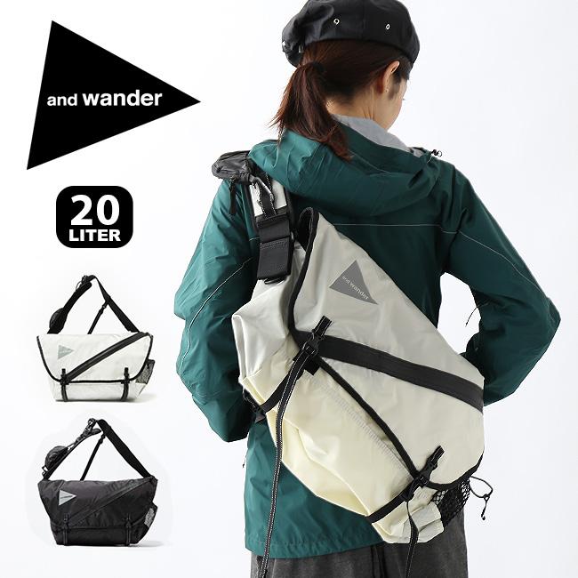 アンドワンダー 20L メッセンジャーバッグ and wander 20L messenger bag メンズ レディース バッグ ショルダーバッグ <2019 秋冬>