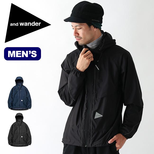 アンドワンダー ラッセルリップジャケット and wander raschel rip jacket メンズ トップス アウター ジャケット AW93-JT056 <2019 秋冬>