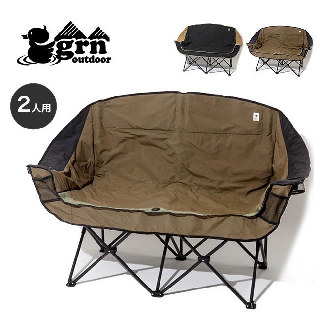 【キャッシュレス 5%還元対象】ジーアールエヌアウトドア 60/40クロスツインソファチェア grn outdoor 60/40Cloth Twin Sofa Chair アウトドアチェア チェア ソファ イス 軽量 フェス <2019 秋冬>