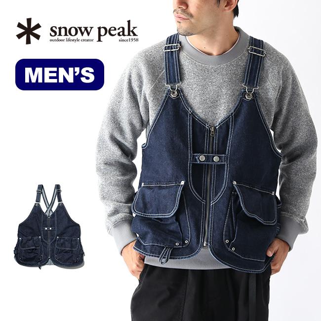 【キャッシュレス 5%還元対象】スノーピーク インディゴタキビベスト snow peak IndigoTAKIBI Vest ウェア メンズ ベスト トップス ツールベスト デニム JK-19AU111 <2019 秋冬>