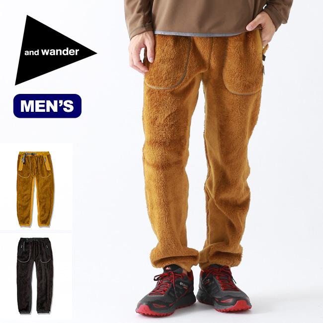 アンドワンダー ハイロフトフリースロングパンツ and wander high loft fleece long pants メンズ AW93-JF621 ロングパンツ パンツ フリースパンツ ボトムス アウトドア <2019 秋冬>