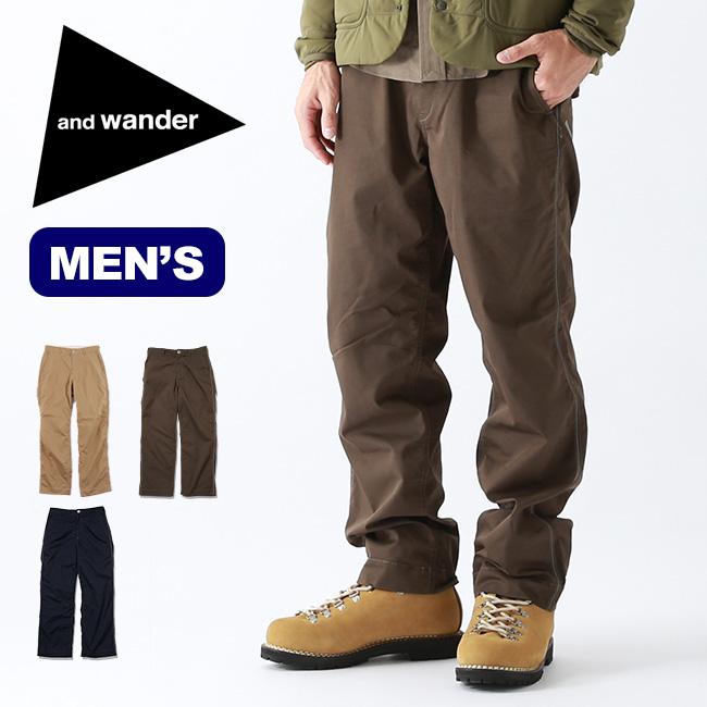 アンドワンダー コーデュラドライチノパンツ and wander CORDULA dry chino pants メンズ AW93-FF084 ボトムス ロングパンツ アウトドア <2019 秋冬>