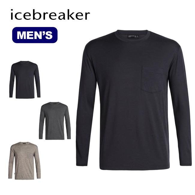【キャッシュレス 5%還元対象】アイスブレーカー メンズ テックライトLSポケットクルー Icebreaker Men's TECH LITE LS POKET CREWE ベースレイヤー ロングスリーブ 長袖 Tシャツ ロンT IT61770 <2019 秋冬>