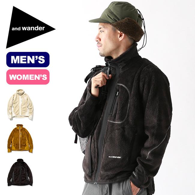アンドワンダー ハイロフトフリースジャケット and wander high loft fleece jacket メンズ レディース ウィメンズ AW93-JT601 ジャケット フリースジャケット アウター <2019 秋冬>