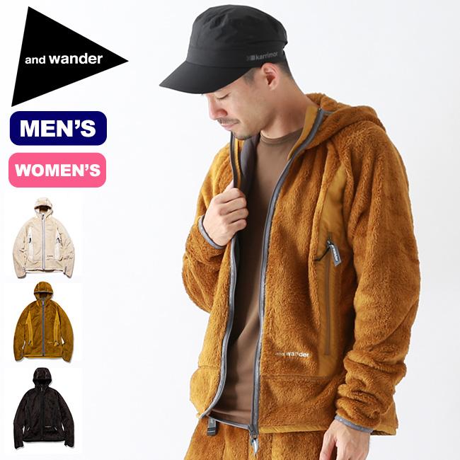 アンドワンダー ハイロフトフリースフーディ and wander high loft fleece hoodie メンズ レディース ウィメンズ AW93-JT620 フーディ ジャケット フリースジャケット アウター <2019 秋冬>