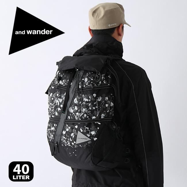 【キャッシュレス 5%還元対象】アンドワンダー スプラッターハンドペイント40L AW93-AA091 バックパック and wander splatter hand paint 40L backpack リュック バック <2019 秋冬>