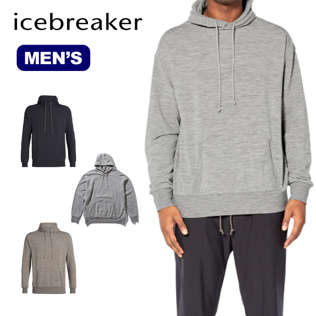 アイスブレーカー メンズ リアルフリースプルオーバー Icebreaker Men's REAL FLEECE PULL-OVER IA51980 パーカー フード フーディ メリノウール<2019 秋冬>