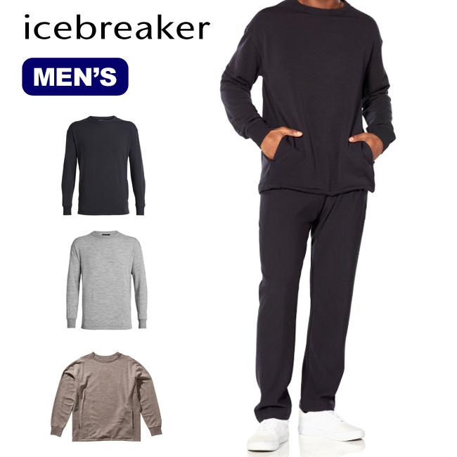 アイスブレーカー メンズ リアルフリースLSクルー Icebreaker Men's REAL FLEECE LS CREWE IA51981 ロングスリーブ メリノウール<2019 秋冬>
