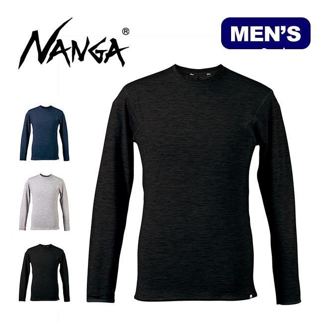 ナンガ メンズ メリノウールインナーL/S Tee NANGA 19LE-NA-015 メンズ 19LE-NA-015 下着 アンダーウェア ベースレイヤー ロングTシャツ 長袖 <2019 秋冬>