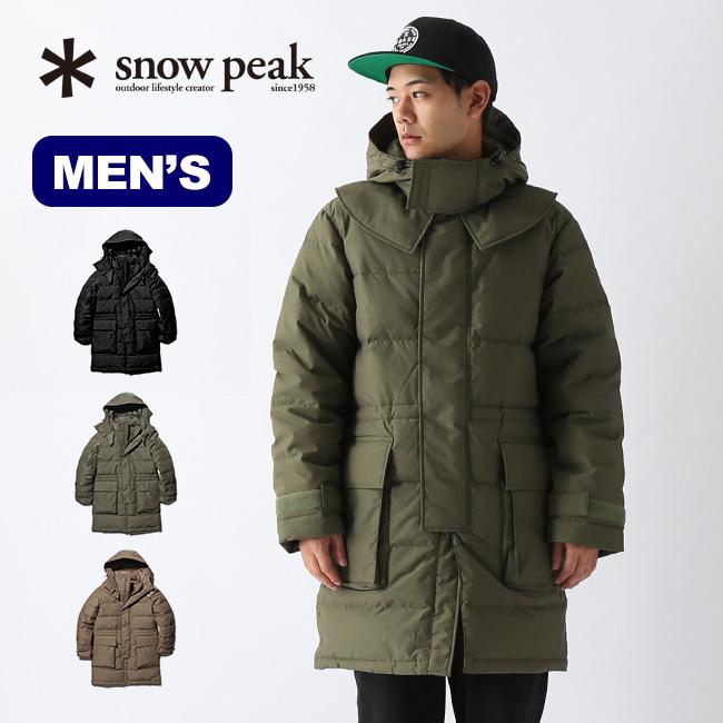 【キャッシュレス 5%還元対象】  スノーピーク FR ダウンコート snow peak FR Down Coat M Olive メンズ JK-19AU002 ウェア コート アウター ダウン 難燃性 焚き火 <2019 秋冬>