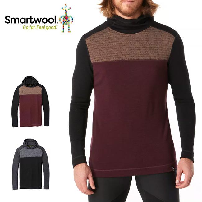 Smartwool Men's Merino 250 Color Block Hoodie スマートウール メンズ メリノ250カラーブロックフーディー ベースレイヤー ロングスリーブシャツ 長袖 メリノウール アウトドア <2019 秋冬>