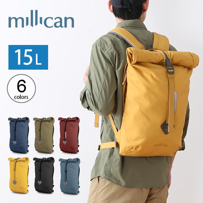 ミリカン スミス ザ・ロールパック 15L millican Smith The Rroll Pack 15L M014 リュック リュックサック デイパック ロールトップ アウトドア <2020 春夏>